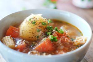 食事メニュー①脂肪燃焼の野菜スープの画像